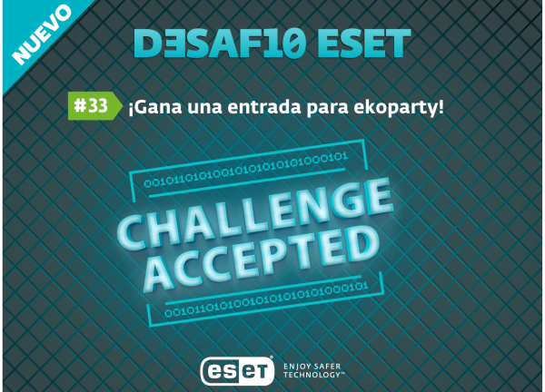 Desafío ESET #33: gana una entrada para ekoparty haciendo reversing en Windows
