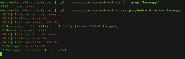 Android Console Python AppMon