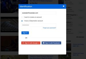 Dailymotion password login