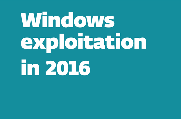 Windows exploitation in 2016