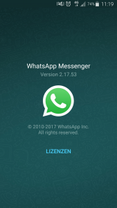 Screenshot WhatsApp Version 2.17.53