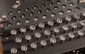 Enigma machine was cracked at Bletchley Park