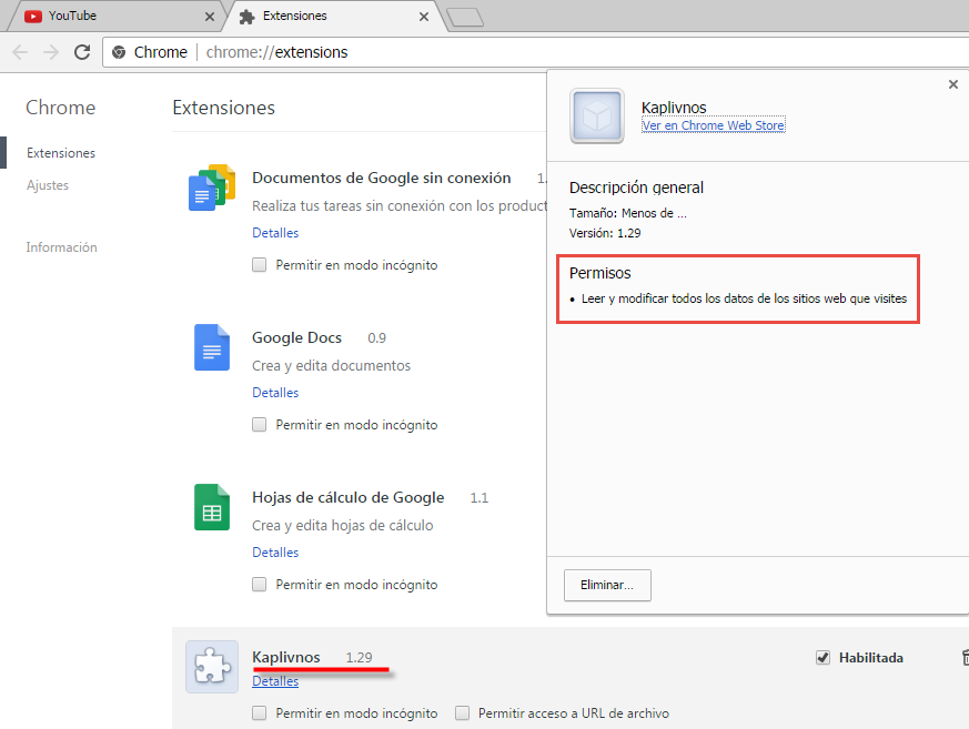 - 05 ExtensionesFalsasChrome   JSChromex Submelius - Fake Chrome extensions inject code into web pages