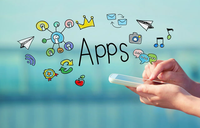 image of app icons to signify tablet security  - shutterstock 335040302 - Is it as good as your smartphone?
