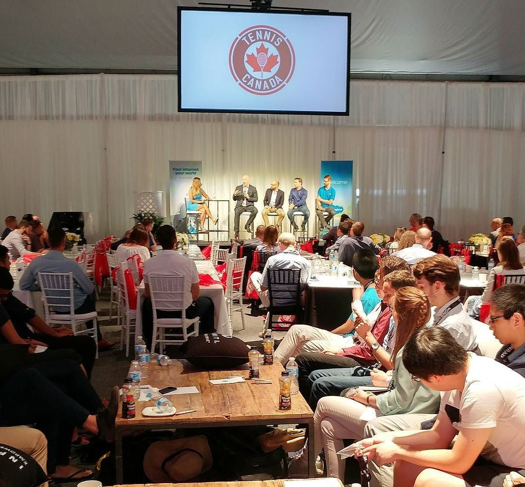 cybersecurity panel meets at the rodgers cup u0027tech and tennis u0027 day