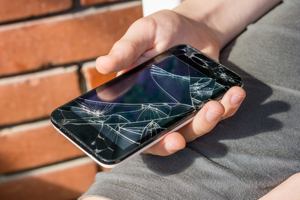 Image result for cracked phone