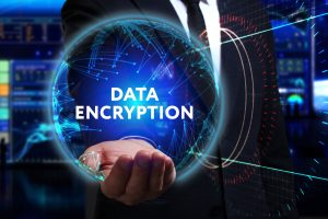 Data encryption in a hand