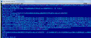 Figure 5 – Version obscurcie de la porte dérobée VBScript