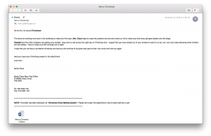 Fancy Bear  - mail merrychristmas 300x193 - Fancy Bear continue to operate through phishing emails and much more