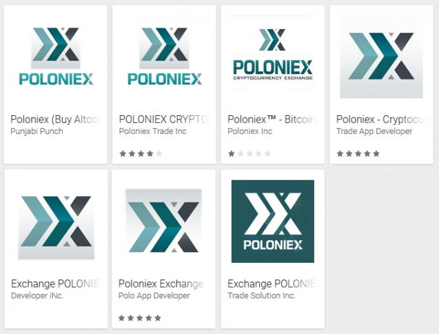 Fake Poloniex Apps im Google Play Store
