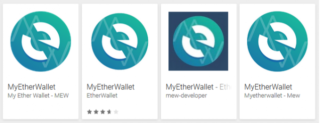 Fake MyEtherWallet Apps
