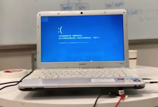 An acoustic attack can bluescreen your Windows computer