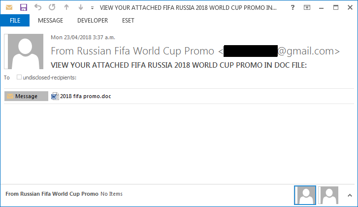 - Figure 2a - Fake lotteries trying to use FIFA World Cup fever to scam people