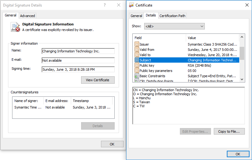 - Figure2 2 - Stolen digital certificates misused in Plead malware campaign discovered