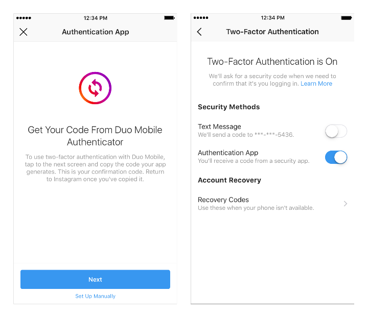 - Screenshot Instagram - 2FA shake-up account verification announced for Instagram users