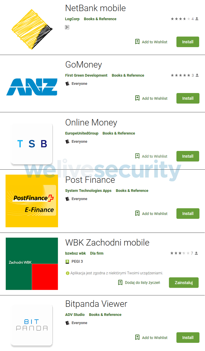 Falsas Apps Financieras En Google Play Roban Datos Bancarios De Usuarios Welivesecurity