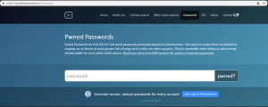 Screenshot - haveibeenpwned.com/Passwords