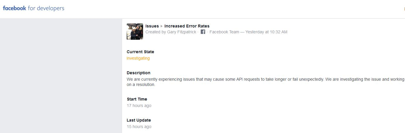 - FB developers - Facebook suffer most severe outage ever, family of apps also impacted