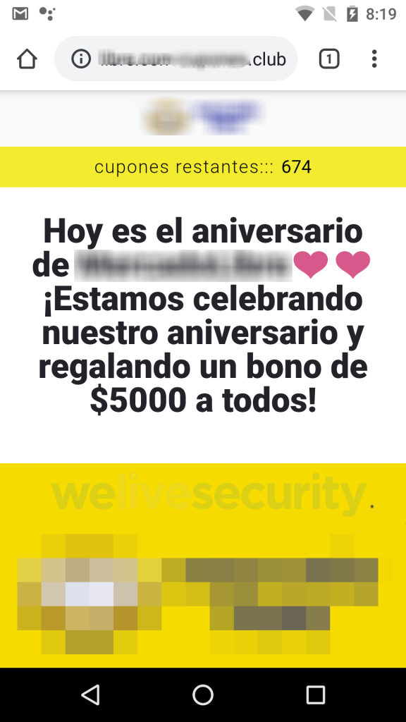 Phishing vía WhatsApp