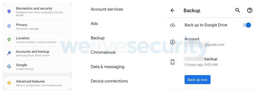 Abbildung 2: Google Drive Android Cloud Backup