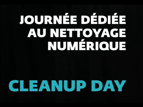 Capsule cybersécurité: Cyber World Clean Up Day