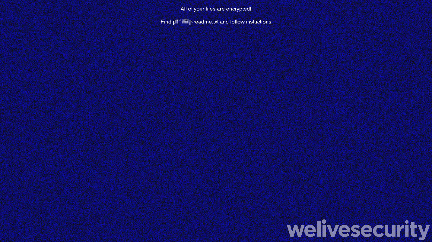 Figure 2. System wallpaper is changed to an image like this
