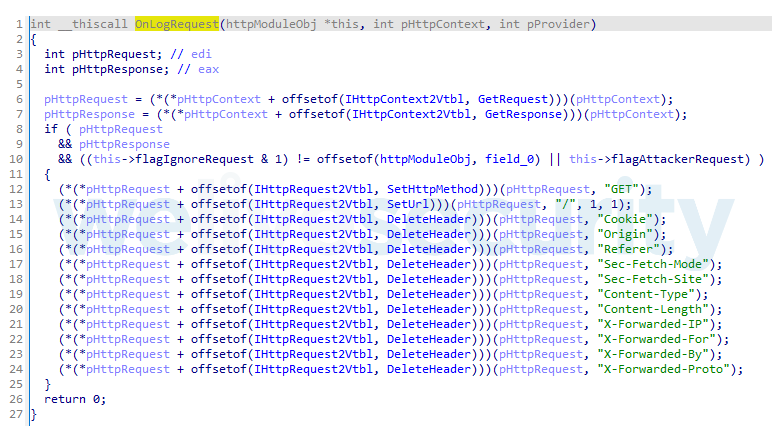 Figure 5. IISpy modifies log entries for attacker requests