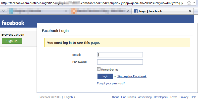 Phishing de Facebook
