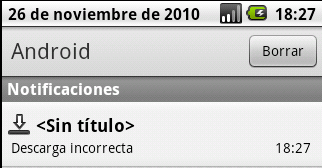 Android notificaciones descargas