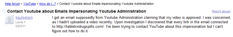 YouTube Video Spam