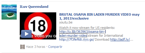 Osama Bin Laden - Scam y Facebook