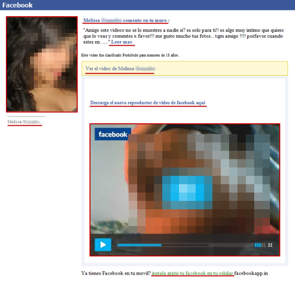 Falso correo de Facebook y video San Valentín