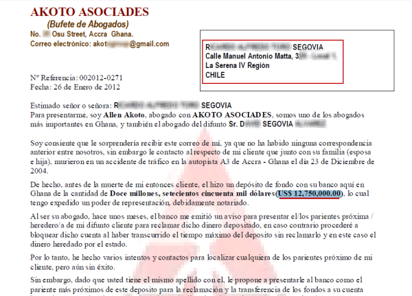 Falso documento PDF