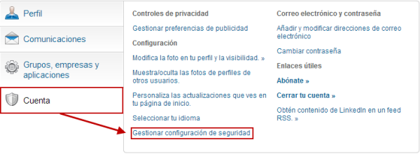 Doble autenticación LinkedIn