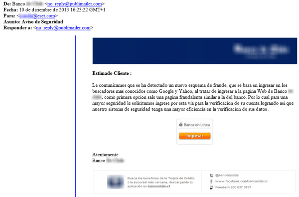 email phishing chile
